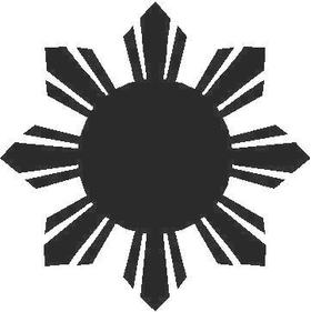 Filipino Sun Decal / Sticker