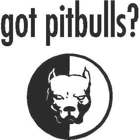 Got Pitbulls? Decal / Sticker