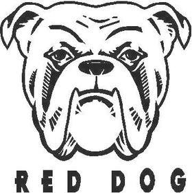 Red Dog Decal / Sticker