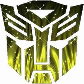 Yellow Fire Autobot Decal / Sticker 13