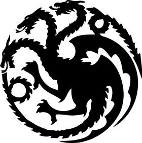Game of Thrones Targaryen Sigil Decal / Sticker 02