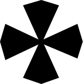 Christian Cross Decal / Sticker 28