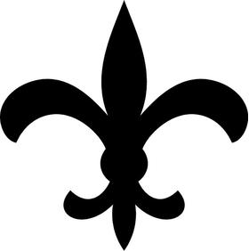 Fleur-De-Lis Decal / Sticker 09