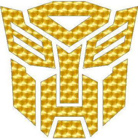 Gold Engine Turn Autobot 06 Decal / Sticker