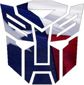 Autobot 06 Texas Flag Decal / Sticker