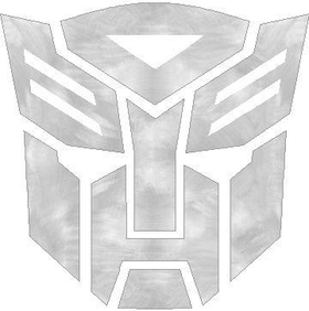 Sanded Aluminum Autobot Decal / Sticker 11
