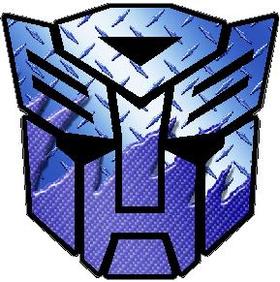 Transformers Autobot Light Blue Carbon Plate Decal / Sticker