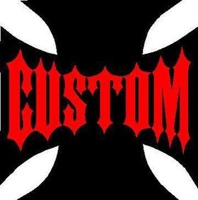 Custom Cross Decal / Sticker 02