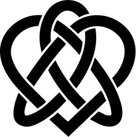 Celtic Heart Decal / Sticker 01