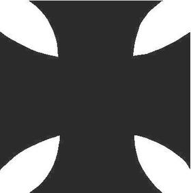 Maltese Cross Decal / Sticker 01