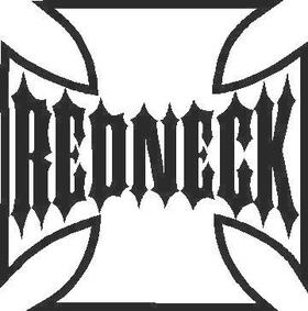 Redneck Maltese Cross Decal / Sticker 01
