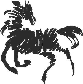 Scribble Horse Decal / Sticker