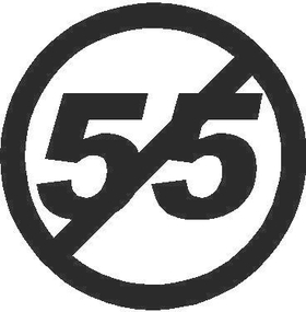 Can't Drive 55 Decal / Sticker