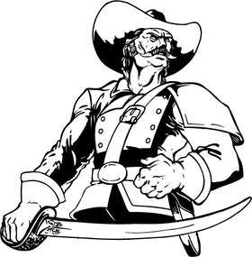Generals Mascot Decal / Sticker 03