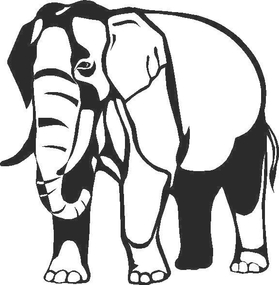 Elephant Decal / Sticker 01