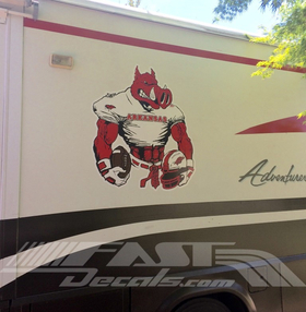 Football Razorbacks Mascots Decal / Sticker 3