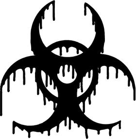 Melting Bio-hazard Decal / Sticker 06