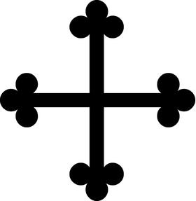 Christian Cross Decal / Sticker 24