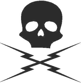Death Proof Skull and Lightning Bolts Decal / Sticker