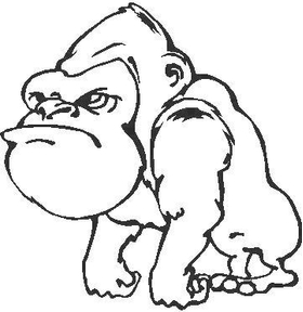 Gorilla Decal / Sticker 01