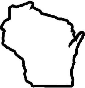 Wisconsin Decal / Sticker 02