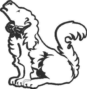 Dog Decal / Sticker 02