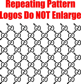 Gucci Step and Repeat Pattern Decal / Sticker 07