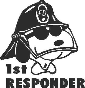 Snoopy Fire Decal / Sticker