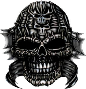 Alien Skull Decal / Sticker 01
