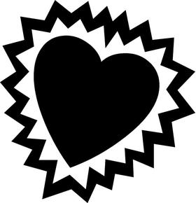 Heart Decal / Sticker 13