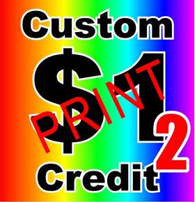 Custom $1 Credit for PRINT decals VERSION 2
