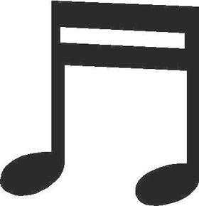 Musical Note Decal / Sticker 01