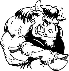 Buffalo Mascot Decal / Sticker