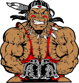 Weightlifting Braves / Indians / Chiefs Mascot Decal / Sticker