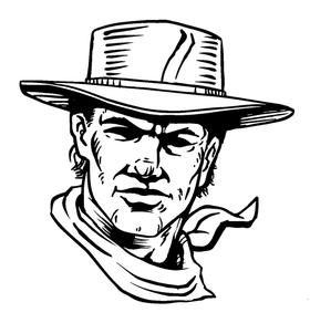 Cowboys Mascot Decal / Sticker 6