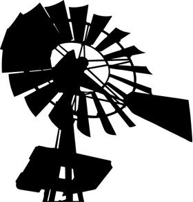Windmill Decal / Sticker 05
