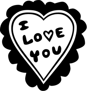 I love You Heart Decal / Sticker 12