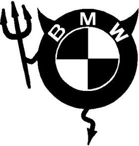 BMW Devil Decal / Sticker