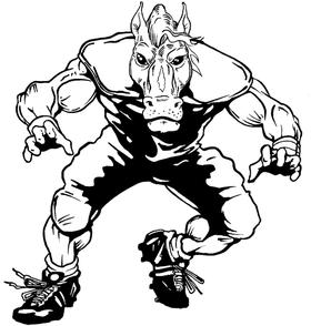 Football Horse Mascot Decal / Sticker 3