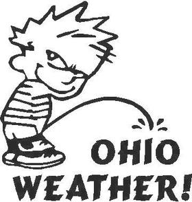 Z1 Pee On Ohio Weather Decal / Sticker