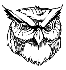Owls Mascot Decal / Sticker 3