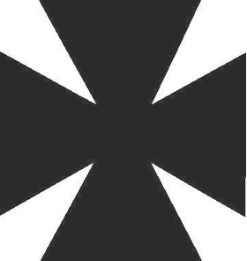 Maltese Cross Decal / Sticker 05