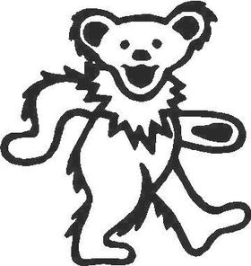 Dead Head Bear Decal / Sticker