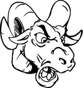 Rams Head Decal / Sticker