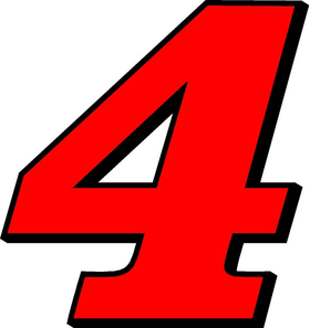 4 Race Number 2 COLOR Decal / Sticker