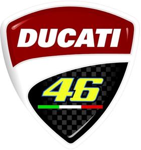 Ducati Valentino Rossi Decal / Sticker 24