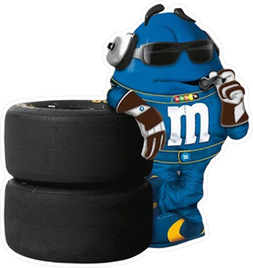 Blue NASCAR M&M Decal / Sticker 54