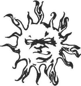 Sun Decal / Sticker 02