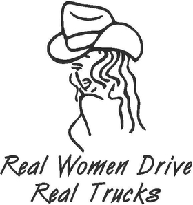 Real Women Drive Real Trucks Decal / Sticker
