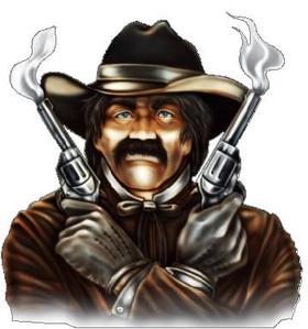 Smoking Guns Cowboy Decal / Sticker